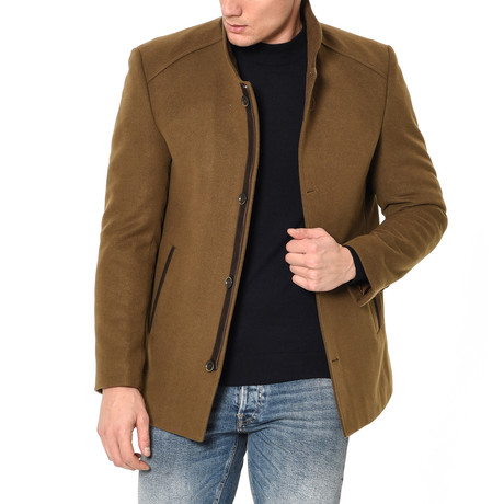 Athens Overcoat // Camel (Small)