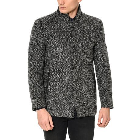 PLT8327 Overcoat // Patterned Grey (M)