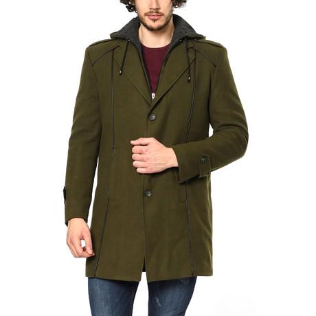 PLT8334 Overcoat // Olive (M)