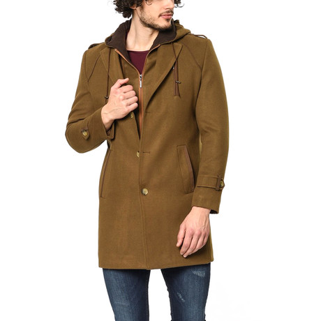 PLT8336 Overcoat // Camel (M)