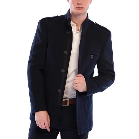 PLT8358 Coat // Dark Blue (M)