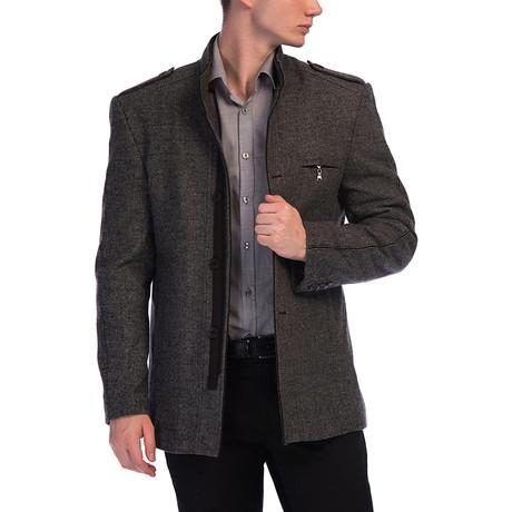 PLT8358 Coat // Patterned Gray (S)