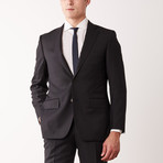Via Roma // Classic Fit Half-Canvas Suit // Black (US: 40R)