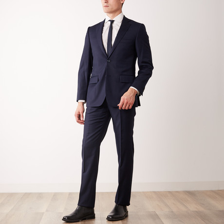 Via Roma // Classic Fit Half-Canvas Suit // Navy (US: 36S)