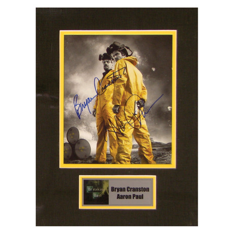Bryan Cranston + Aaron Paul // Breaking Bad // Signed Photo
