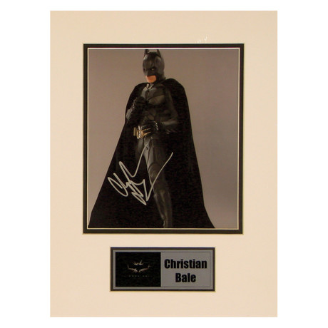 Christian Bale // The Dark Knight // Signed Photo