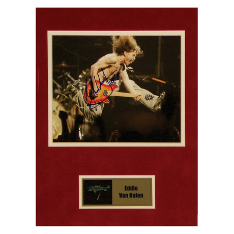 Eddie Van Halen // Signed Photo