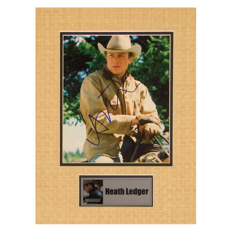 Heath Ledger // Brokeback Mountain // Signed Photo