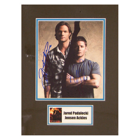Jared Padalecki + Jensen Ackles // Supernatural // Signed Photo