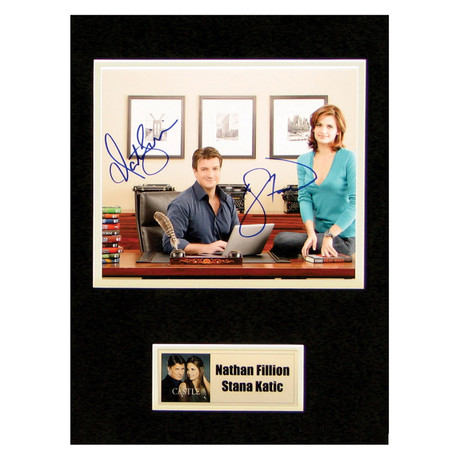 Nathan Fillion + Stana Katic // Castle // Signed Photo
