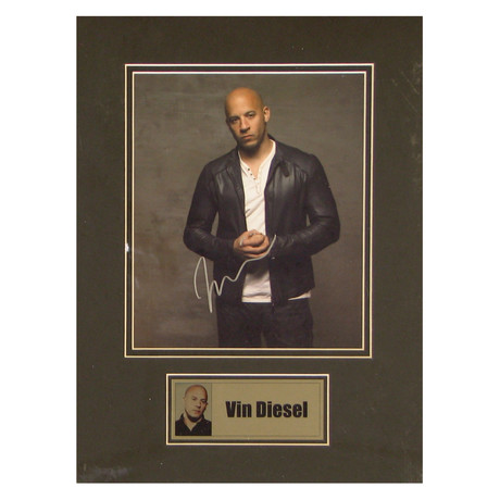 Vin Diesel // Signed Photo
