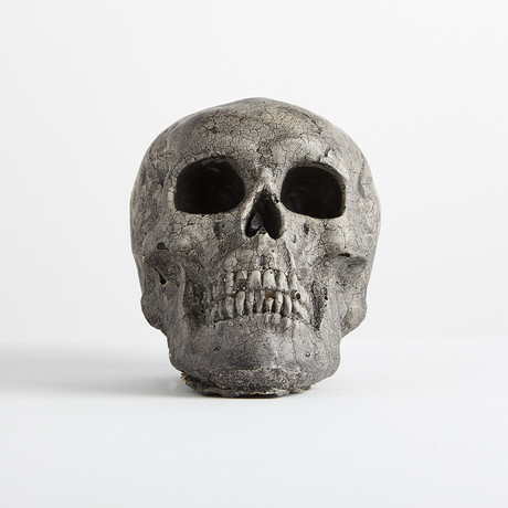 Ceramic Gray Skull // Mini