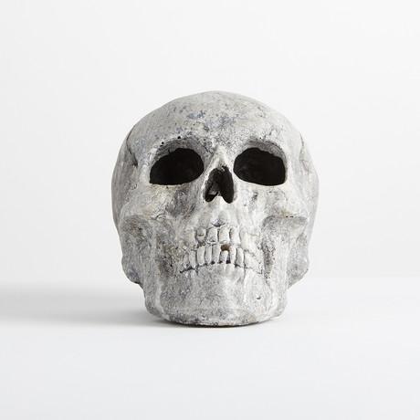 Ceramic Human Skull // Mini