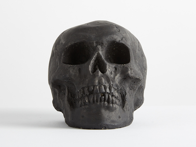 Photo of The Cozy Hearth Sinister Ceramic Fire-Pit Skulls Ceramic Tarred Skull // Mini by Touch Of Modern
