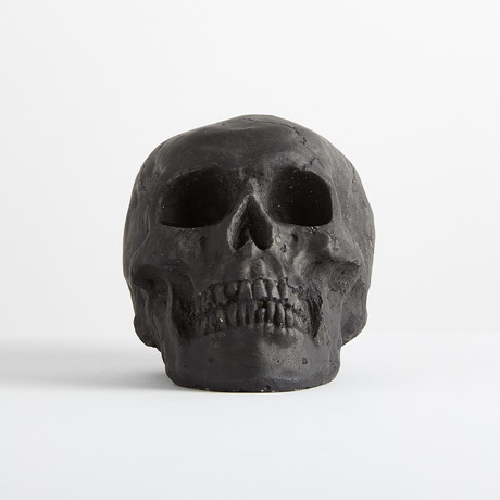 Ceramic Tarred Skull // Mini