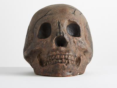 Photo of The Cozy Hearth Sinister Ceramic Fire-Pit Skulls Ceramic Aged Skull // One-Piece by Touch Of Modern
