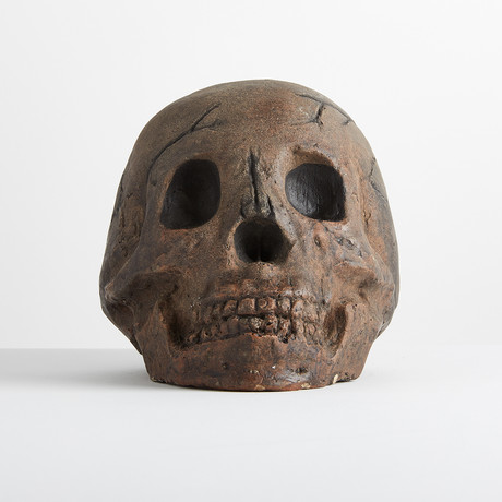 Ceramic Aged Skull // One-Piece
