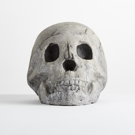 Ceramic Human Skull // One-Piece