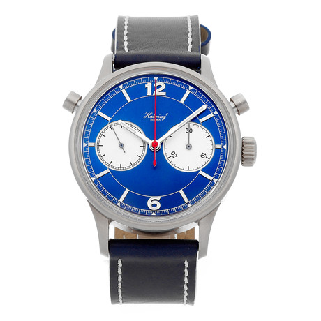 Habring Doppel 3 TI Chronograph Manual Wind // DOPPEL3-TI-BLUE // Pre-Owned