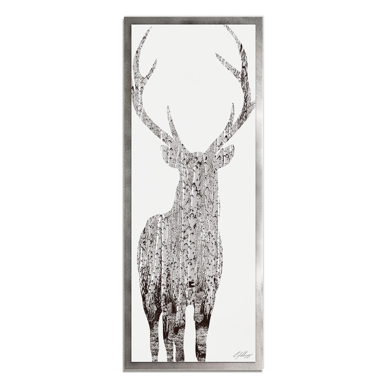 Birch Deer // Silver Frame (48\