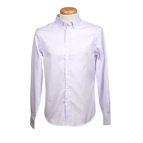 Brunello Cucinelli // Leisure Fit Long Sleeve Shirt // Light Purple (S)