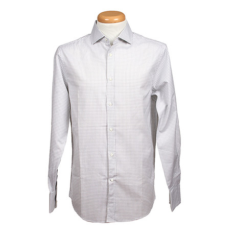 Brunello Cucinelli // Leisure Fit Long Sleeve Shirt // Patterned (S)