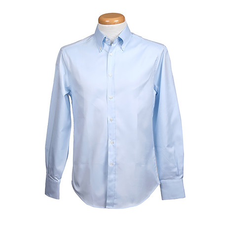 Brunello Cucinelli // Leisure Fit Long Sleeve Shirt // Light Blue (S)