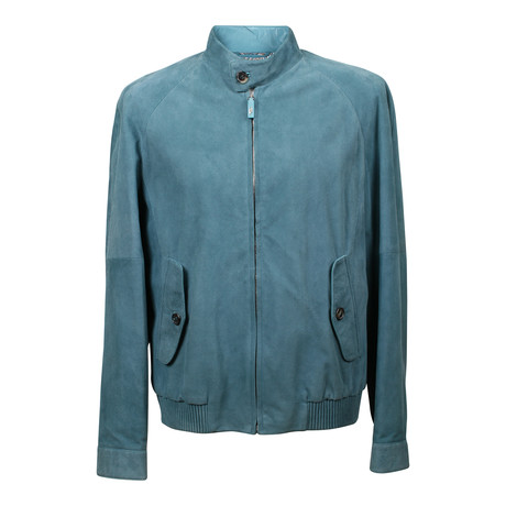 Suede Coat // Turquoise Green (XL)