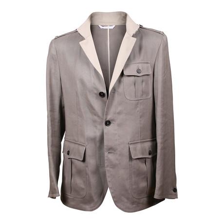 Military Style Coat // Beige (XS)