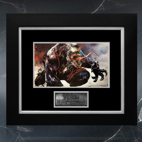 Venom // Tom Hardy + Stan Lee Signed Promotion Art Photo // Custom Frame