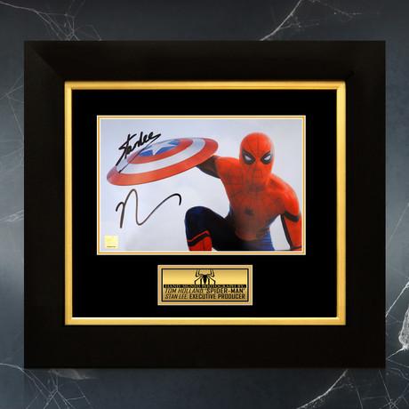 Spider-Man // Tom Holland + Stan Lee Signed Photo // Custom Frame