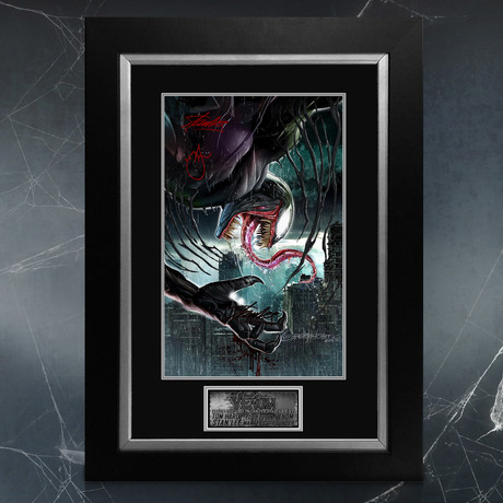 Venom // Tom Hardy + Stan Lee Signed Original Art Print // Custom Frame