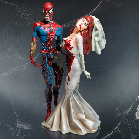 Zombie Spider-Man + Mary Jane // Vintage Limited Edition Statue