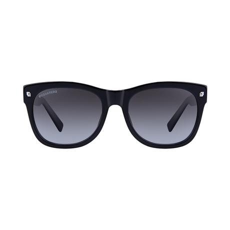 Dsquared2 // Modern Sunglasses // Shiny Black + Gradient Smoke