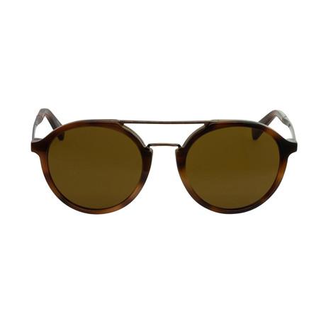Zegna // Classic Havana Sunglasses // Dark Havana + Brown