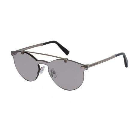 8e5c90d82c4 Zegna    Men s Single Lens Sunglasses    Gray + Smoke Mirror