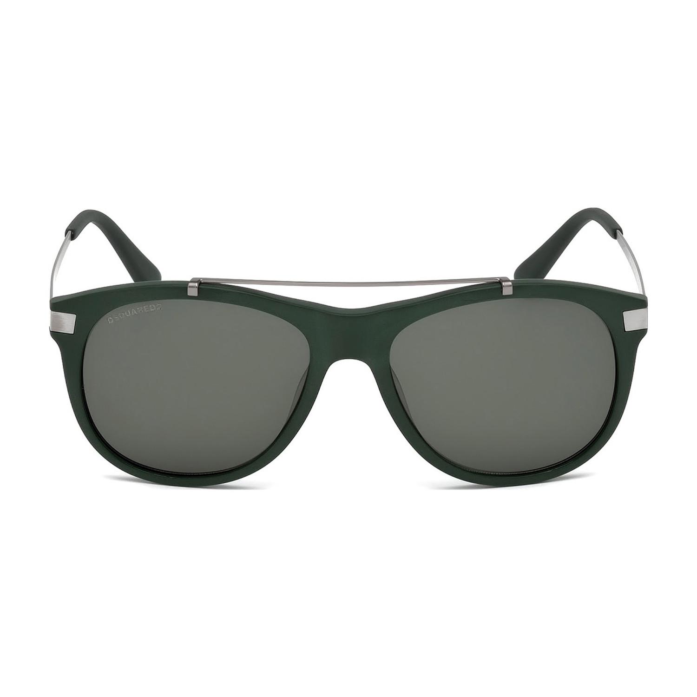bead5615be2d Dsquared2 // Top Bar Sunglasses // Matte Dark Green + Green - 24 ...
