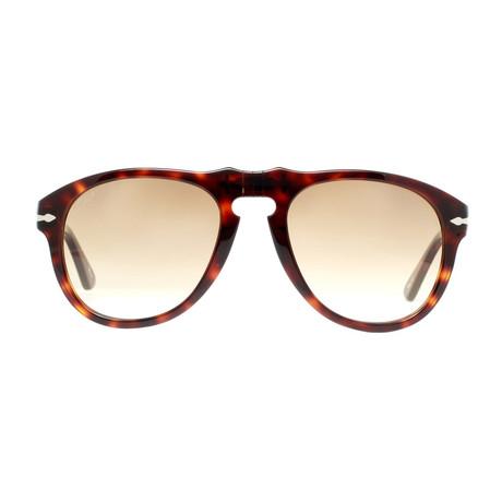 Persol // Classic Sunglasses // Dark Havana + Brown Gradient (52mm)