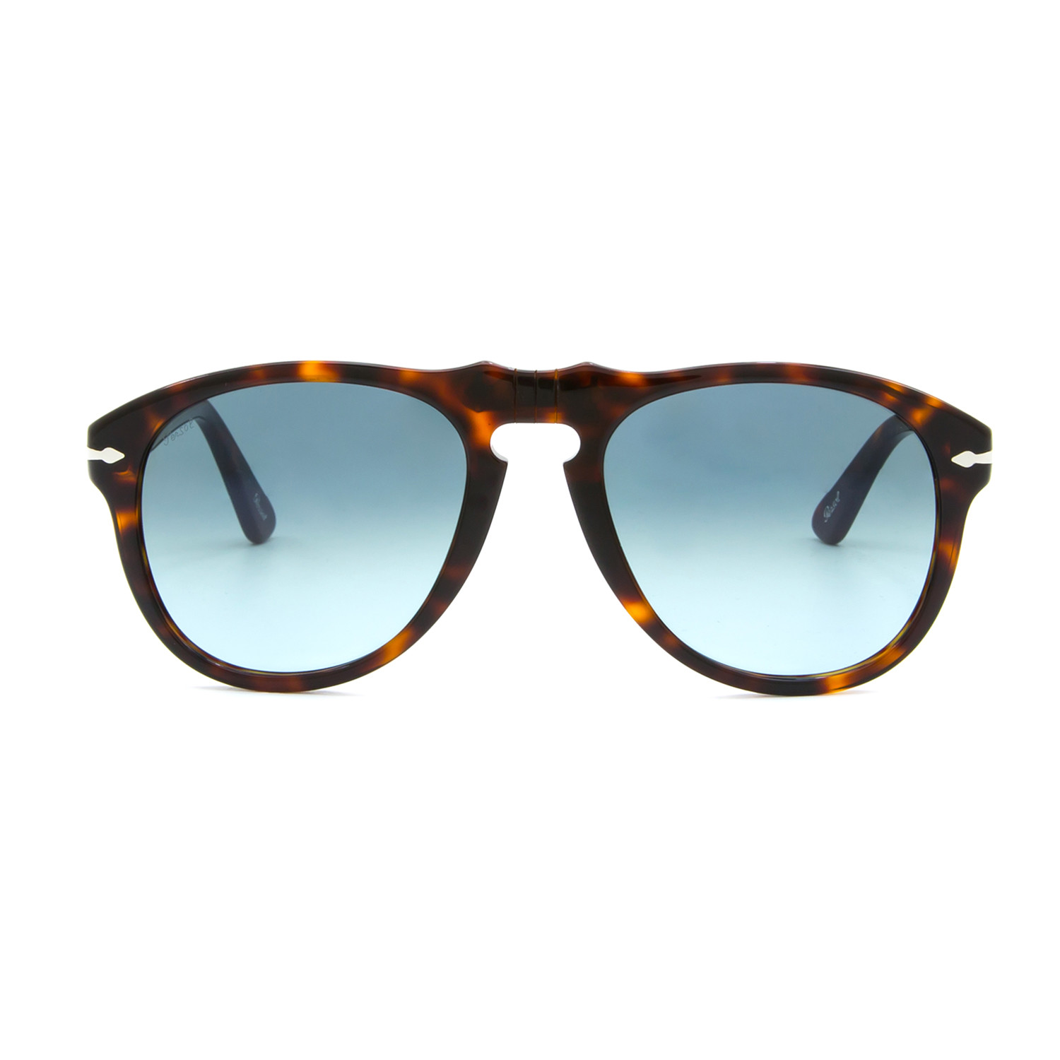 9fee2de6d75 Persol 649 Classic Sunglasses    Dark Havana + Blue Gradient (52mm ...