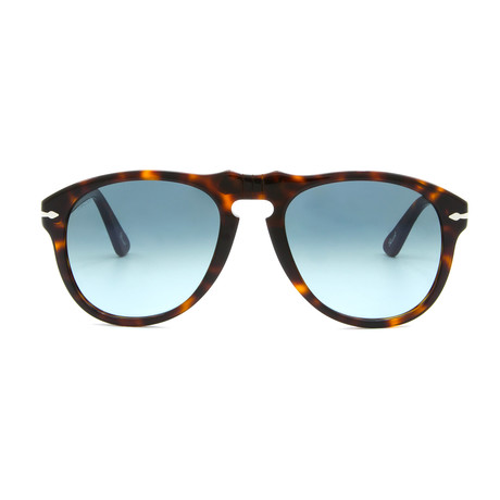 Classic Sunglasses // Dark Havana + Blue Gradient (52mm)
