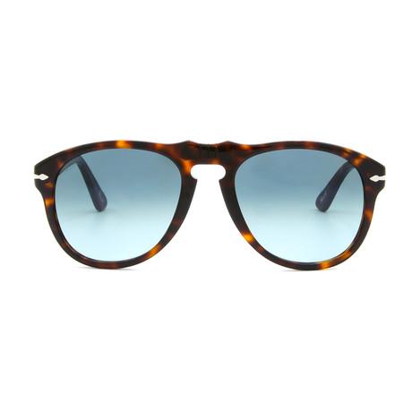 Classic Sunglasses // Dark Havana + Blue Gradient (54mm)