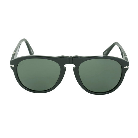 Classic Sunglasses // Black + Green (54mm)