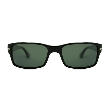Rectangle Polarized Sunglasses // Black + Gray Polarized