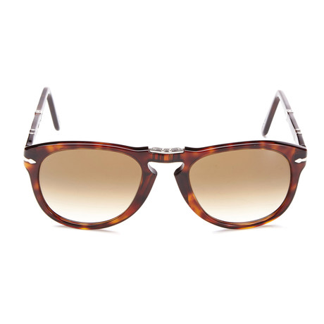 Persol 714 Iconic Folding Sunglasses // Dark Havana + Brown Gradient (52mm)