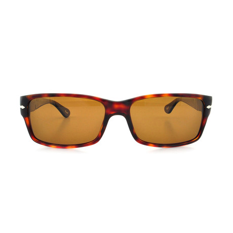 Rectangle Polarized Sunglasses // Dark Havana + Brown Polarized