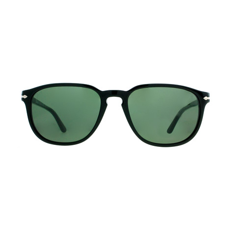 Persol // Classic 3019 Sunglasses // Black + Green