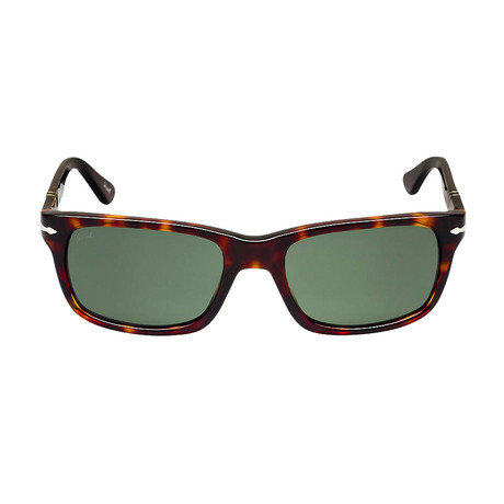 Persol Squared Sunglasses // Dark Havana + Grey