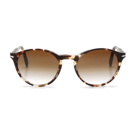 Classic Round Sunglasses // Tortoise + Brown Gradient