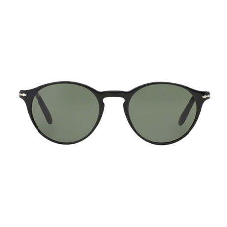 Classic Round Sunglasses // Black + Green