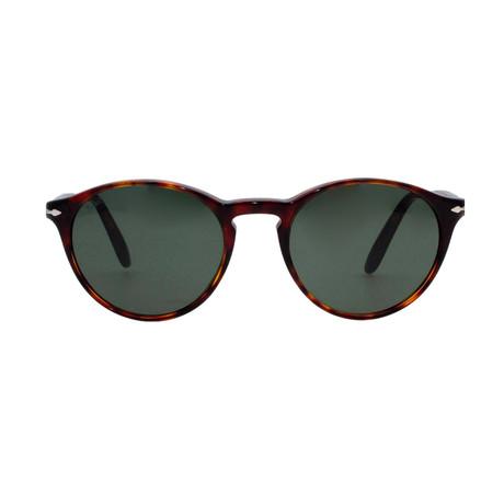 Classic Round Sunglasses V1 // Havana + Green